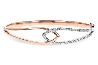 M198-34624: BANGLE BRACELET .50 TW (ROSE & WG)